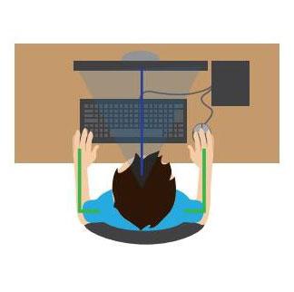 O seu monitor de vídeo está de frente para você?